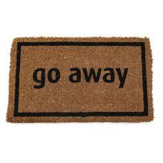 'Go Away' Door Mat - xmaslist