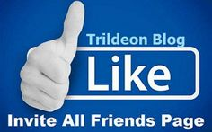 How To Invite All Your Friends To Like Facebook Fan Page In One Click Using Browser Extension - Trildeon Blog