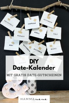 DIY (for Valentine's Day, Father's Day or birthday) with Freebie! ° Make the date calendar yourself ° A personal gift for men DIY (for Valentine's Day, Father's Day or birthday) with Freebie! ° Make the date calendar you Saint Valentin Diy, Diy Crafts To Do, Diy For Men, Valentine's Day Diy, Valentine Day Gifts, Diy Gifts, Fathers Day, Personalized Gifts, Blog
