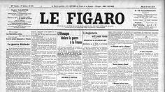 La Une du Figaro du 4 août 1914