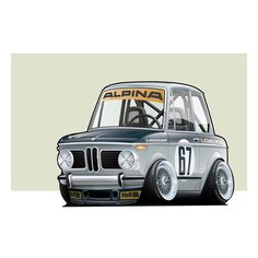 Revisited an old illustration because I thought today was #2002sday • @lowly.gentlemen Style BMW 2002