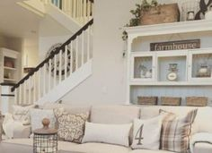 Looking for farmhouse ideas for living room? Check out these stunning farmhouse living room decor and design ideas that might interest you. Living Room Decor Tips, Sitting Room Decor, Beige Living Rooms, Farmhouse Living Room Furniture, Living Room Paint, Cozy Living Rooms, New Living Room, Living Room Sofa, Living Room Designs