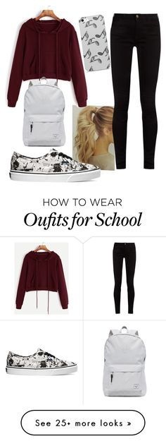 """School"" by naomi-esperanza on Polyvore featuring Gucci, Vans, Herschel Supply Co. and Music Notes"