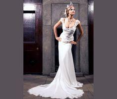 Wedding dress-Romantic wedding dress-Lace chiffon by MonikaVenika