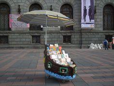 Biblioteca móvil en México.
