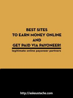 Earn money working online and get paid via Payoneer!  This list helps you find affiliate programs, freelance sites, ad networks and other ways to make money online and get paid via Payoneer!  Enjoy it!