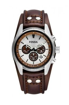 Fossil - Zegarek CH2565 Brown Leather Watch, Tan Leather, Brushed Stainless Steel, Stainless Steel Watch, Watches For Men, Men's Watches, Chronograph, Quartz, Men Fashion