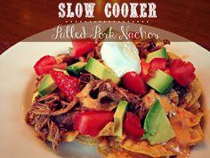 Slow Cooker Pulled Pork Nachos via @jennyonthespot #tailgating with Pork
