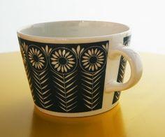 pientä mutta suurta kirppis: Arabian sininen Riikinkukko -kahvikuppi Goa, Scandinavian Design, Finland, Malli, Mugs, Retro, Tableware, Vintage, Dinnerware