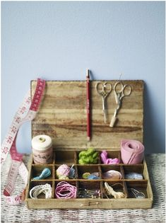 cute to organize little doo-dads on your craft desk!