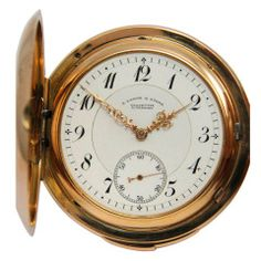 A. Lange & Söhne Pink Gold Quarter Repeating Hunting Cased Pocket Watch