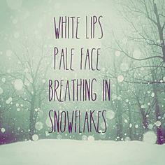 White lips...