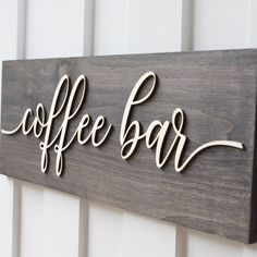 p/coffee-signs-coffee-wood-signs-coffee-bar-sign delivers online tools that help you to stay in control of your personal information and protect your online privacy. Coffee Station Kitchen, Coffee Bars In Kitchen, Coffee Bar Home, Home Coffee Stations, Coffee Corner, Coffee House Decor, Coffe Bar, Coffee Tray, Coffee Shop