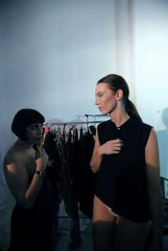 TWO IN A GONDOLA BY ELENA PAVLOU SS13 / BACKSTAGE
