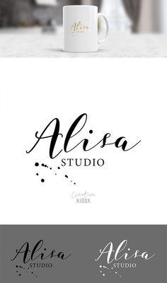 Signature Logo Design. Simple Label Logo Design. Instant PSD