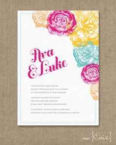 Fiesta wedding invitation. $4.00, via Etsy.
