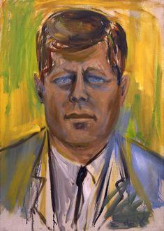 Portrait of JFK, 1963 by Elaine De Kooning on Curiator, the world's biggest collaborative art collection. Willem De Kooning, John F Kennedy, Expressionist Artists, Abstract Expressionism, De Kooning Paintings, Oil Paintings, Elaine De Kooning, Digital Museum, National Portrait Gallery
