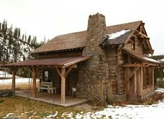 Wholesale Log Homes is the leading wholesale provider of logs for building log homes and log cabins. Log Cabin Kits and Log Home Kits delivered to you. Old Cabins, Tiny Cabins, Log Cabin Homes, Cabins And Cottages, Cabins In The Woods, Little Cabin, Little Houses, Tiny Houses, Houses Houses