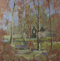 ORIGINAL OIL PAINTING BY BRITISH LANDSCAPE PAINTER PAUL TREASURE. Signalmans Cottage 120X120. Hampshire based Paul Treasure was born in 1961 in Cheltenham and studied at Cheltenham College of Art. He moved to London in 1985 where he worked as a professional artist, painting to commission for clients worldwide. But it: http://www.artpal.com/collectableart?i=13694-12