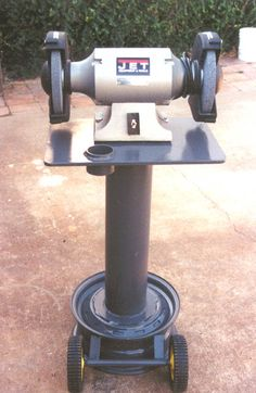 Bench Grinder Stand Cast Iron Pedestal Vice Shop Heavy