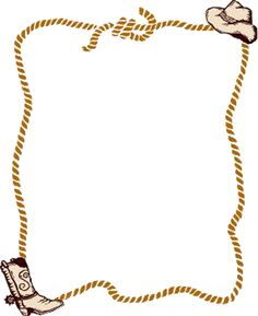 Cowboy Boots Border Clip Art | cowboy rope border clipart image search results