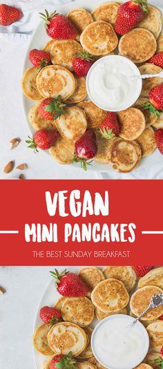 Easy vegan Mini Pancakes {the perfect Sunday breakfast}