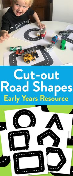 Cut-out Road Shapes To Boost Motor Skills In Early Years Small World Play