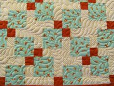 http://threadtales.wordpress.com/2012/03/20/disappearing-nine-patch-quilted/