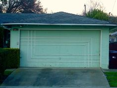 Fun with lines & color: mid-century garage doors
