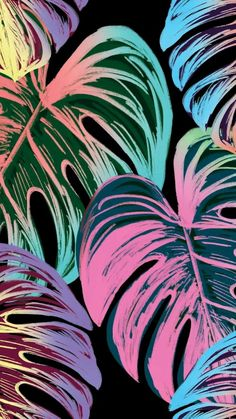 Iphone Wallpaper Tropical, Iphone Background Wallpaper, Cellphone Wallpaper, Phone Backgrounds, Tropical Art, Tropical Vibes, Tropical Prints, Tropical Leaves, Plant Wallpaper