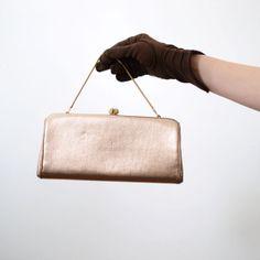 1950s Bronze Handbag by LoveCharles on Etsy, $21.00