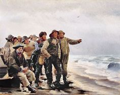 Michael Ancher: Will he round the point? c. 1880