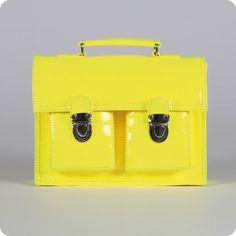 cartable vynile jaune fluo from laurette shop