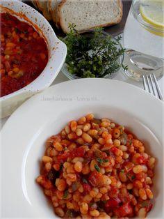 ...konyhán innen - kerten túl...: Pikáns sült bab Bab, Chana Masala, Ethnic Recipes, Food, Essen, Meals, Yemek, Eten
