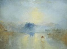 Norham Castle : sunrise , William Turner 1845: