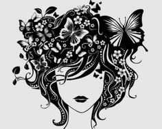 ilustraciones de stock: chica vector beautyful