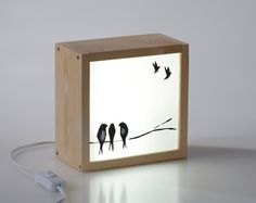 If you like personalized decor this light box is perfect for you. And as a gift is super original and exclusive. Off-box is like a picture and Light Art, Lamp Light, Wood Crafts, Diy And Crafts, Licht Box, Vintage Industrial Lighting, Wooden Lamp, Wood Boxes, Lampshades