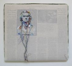 newspaper embroidery art. Lauren DiCioccio