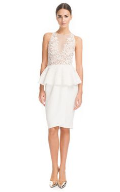 Giambattista Valli Double Viscose Basque Dress