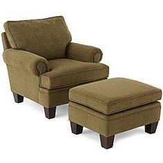 Overstuffed chairs, Chair and ottoman and Ottomans on
