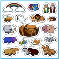 Faith-based Items > Toys Noah and the Ark Magnet Set Bible Activities For Kids, Bible Stories For Kids, Bible Crafts For Kids, Bible Study For Kids, Preschool Bible, Sunday School Crafts For Kids, Sunday School Activities, Noah's Ark Bible, Bible Art