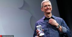 Tim Cook shows off the new iPhone 6 and the Apple Watch during an Apple special event - Justin Sullivan/Getty Images News/Getty Images