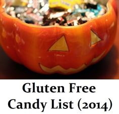 #GlutenFree Candy List (Updated July 2014)