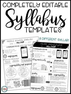 Syllabus Editable Syllabus Infographic Back to School Forms Open House Forms Meet the Teacher Forms***********************************************This resource is part of a BUNDLE with my Editable Meet the Teacher Templates. Middle School Ela, High School Syllabus, Maths Syllabus, High School Classroom, Middle School Teachers, Syllabus Ideas, Classroom Ideas, Classroom Helpers, Classroom Behavior