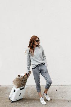 {Airport attire.}