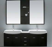 Vigo Vg09001104k 58 7 8 Double Basin Bathroom Complete Vanity Set With Mirrors