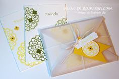 Julie's Stamping Spot -- Stampin' Up! Project Ideas Posted Daily: VIDEO Tutorial: Vellum Envelope Pouch for Notecards
