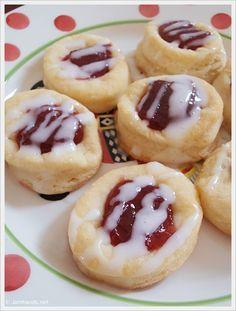 Cherry Kolacky Thumb Print Cookies at JamHands.net