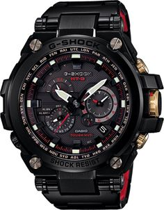 G-Shock - MT-G - MTGS1030BD-1A (Black Steel / Black/Red/Gold)