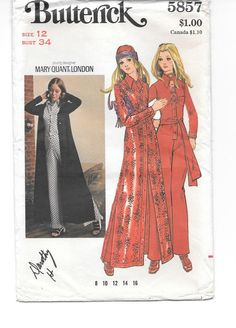 1970s MOD Jumpsuit and Maxi Coat  Designer by CottageontheBluff